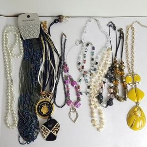 Lot Of 11 Necklaces Wearable Bundle